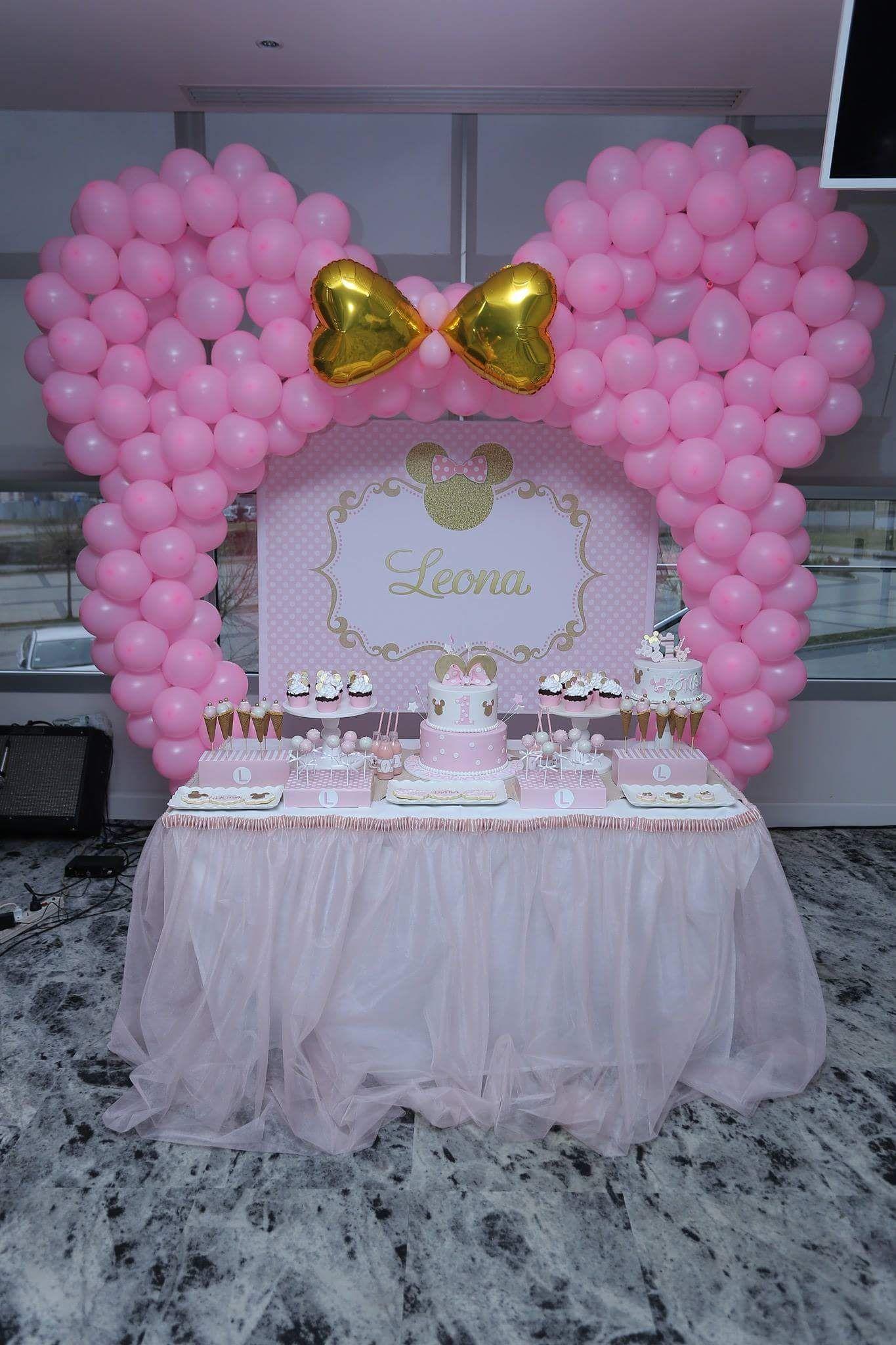 Pin On Minnie Mouse Birthday Theme