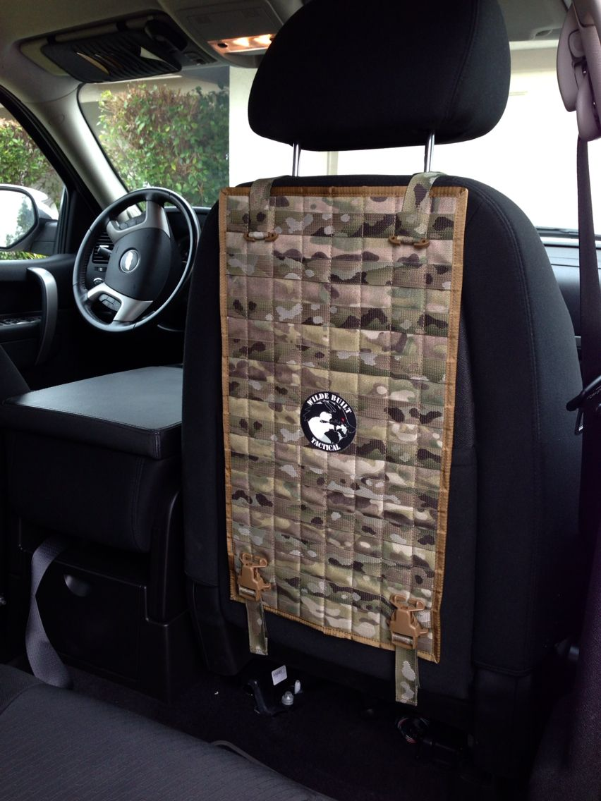 MOLLE Vehicle Seat Back Organizer Storage Tactical Accessories Rigs Jeep Wedges
