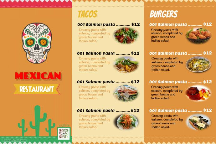 Mexican Food Menu Templates  Idea Promote Bkk