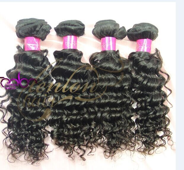 Up To 20 Virgin Indian French Curl Hair Weave One Bundle Hair 10