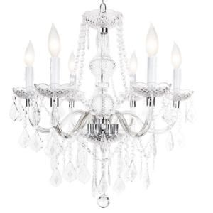 Hampton Bay Maria Theresa 6 Light Chrome Chandelier C873ch06 At The Home Depot Chrome Chandeliers Cheap Chandelier Hampton Bay
