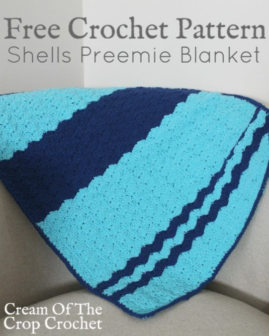 Shells Preemie Blanket Crochet Pattern   Cream Of The Crop Crochet ...