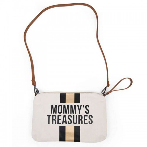 Torebka Mommy S Treasures Paski Czarno Zlote Childhome Bags Baby Projects Tote Bag