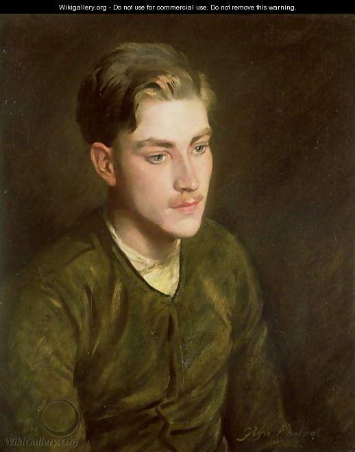 glyn warren philpot | Man in a Flying Jacket, 1916 - Glyn Warren Philpot - WikiGallery.org ...
