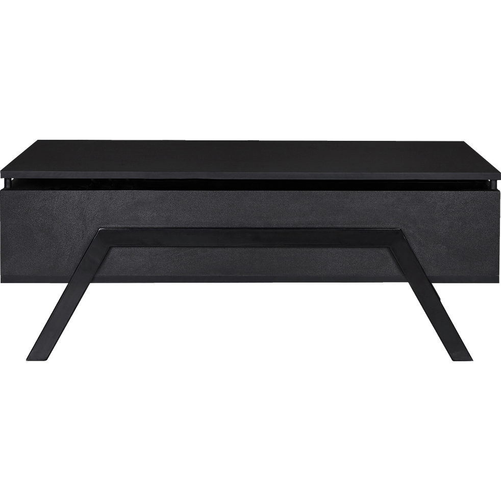 Table Basse Noire Avec Tablette Relevable Turn Table Basse Noire Table Basse Table Basse Alinea