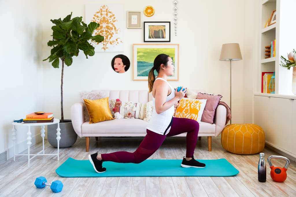 The Total Body Workout You Can Do At Home In Your Living Room No Equipment Workout At Home Workouts Home Gym Exercises