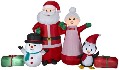 Gemmy Industries Airblown Santa And Mrs Clause Collection Scene Multi Gemmy Outdoor Christmas Decorations Outdoor Christmas