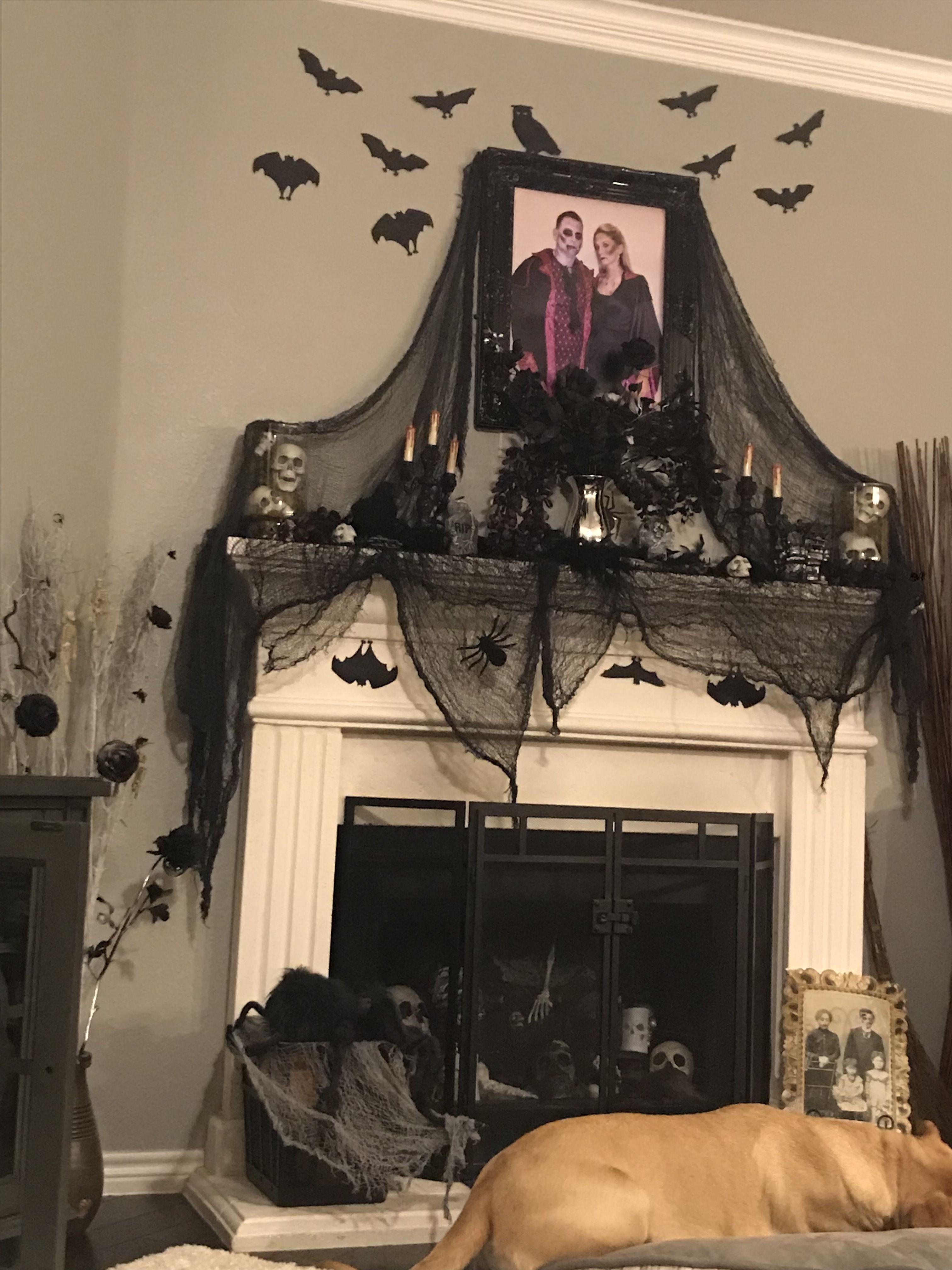 Halloween Mantle Halloween Mantel Elegant Halloween Elegant Halloween Decor