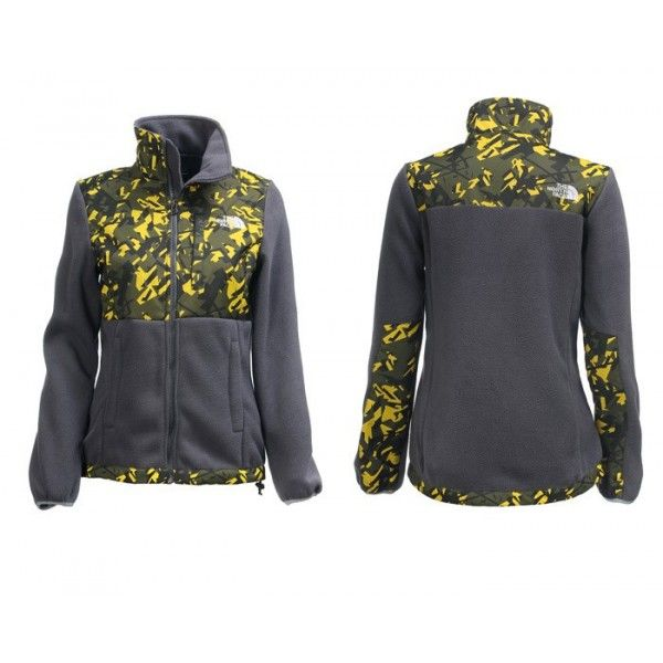 70b1da6a10db ... The North Face Womens Denali Jacket Camo Yellow ...