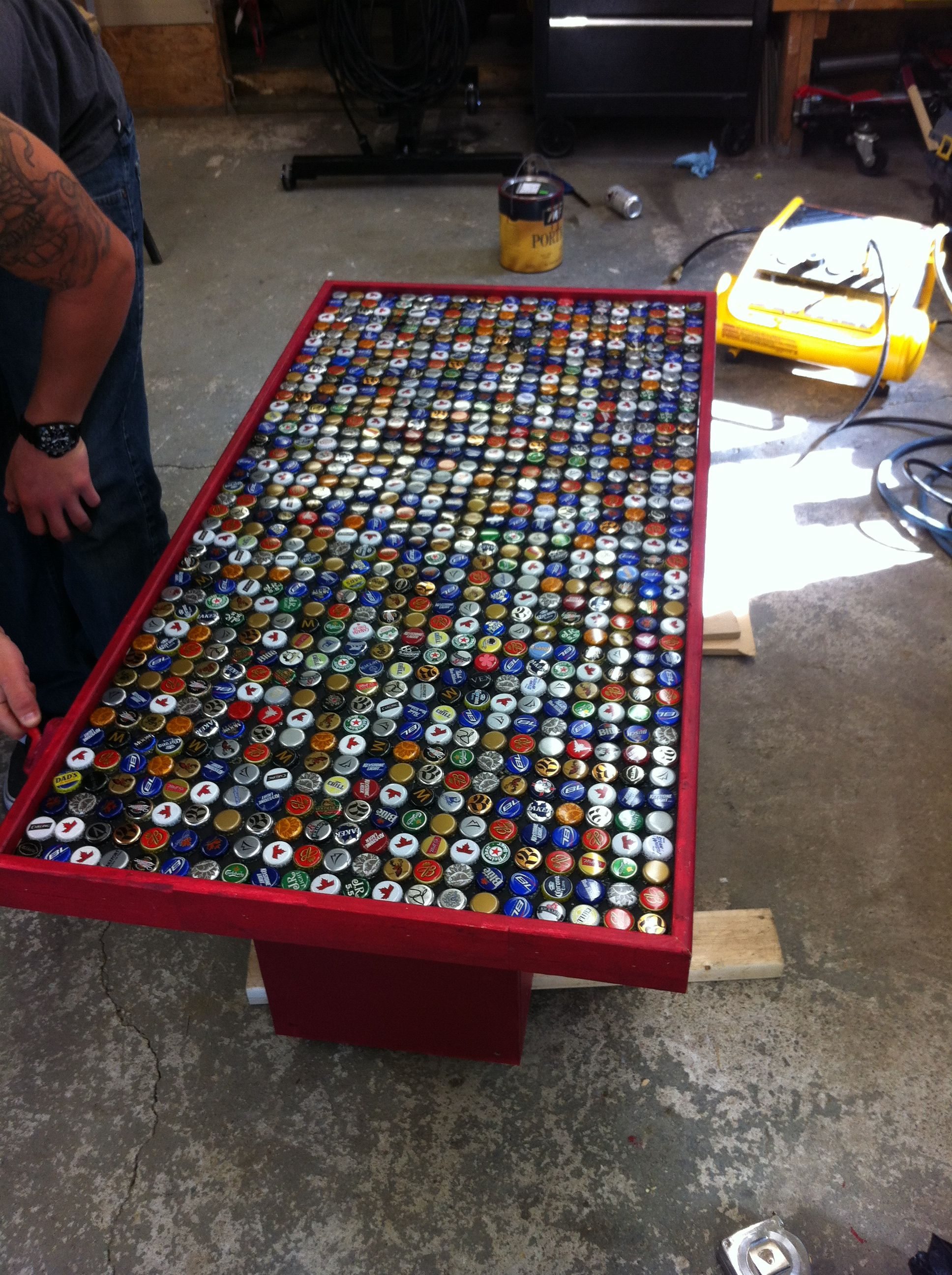 Beer Cap Table For The Man Cave Beer Cap Table Bottle