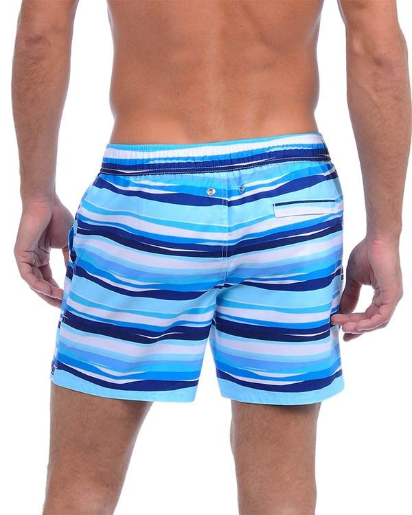37be854355 2xist - Awning Stripe Hampton Swim Short - White. Available now at  DailyJocks.com!