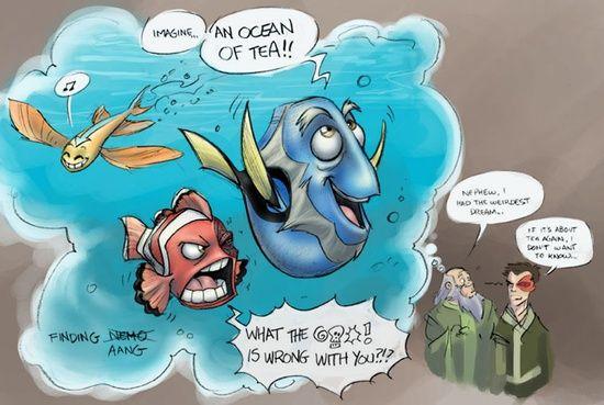 Finding Aang- Ocean of tea #ATLA and Nemo crossover
