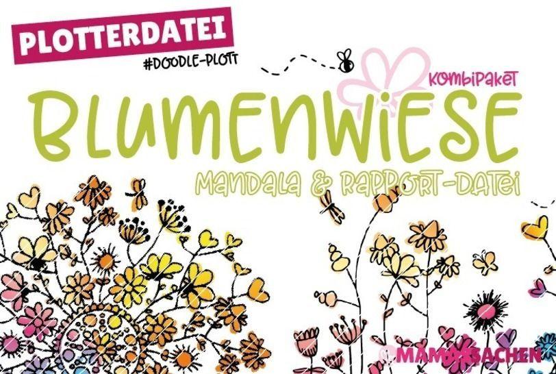 Blumenwiese Kombidatei Rapport Mandala Doodleplott