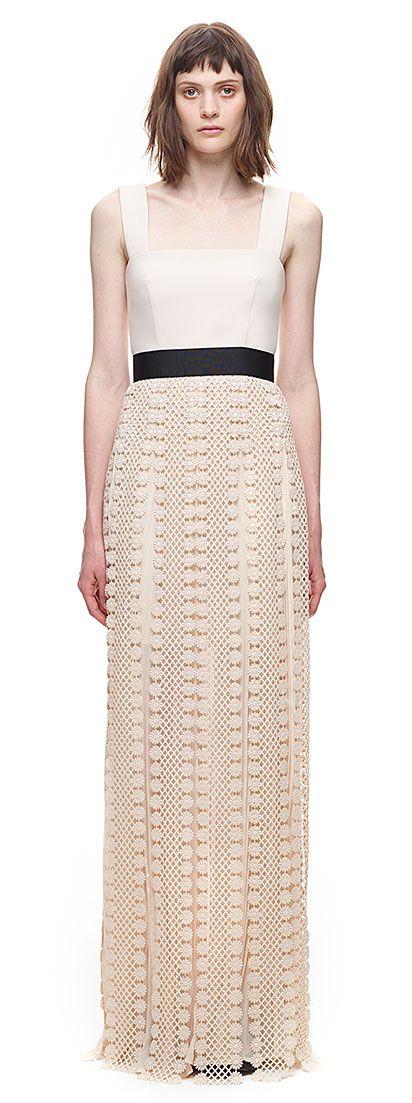 All Lace Trim Maxi Dress