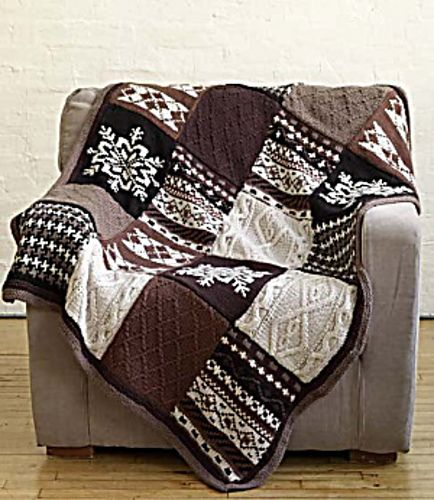 Ravelry Fireside Patchwork Afghan Pattern By Nicky Epstein