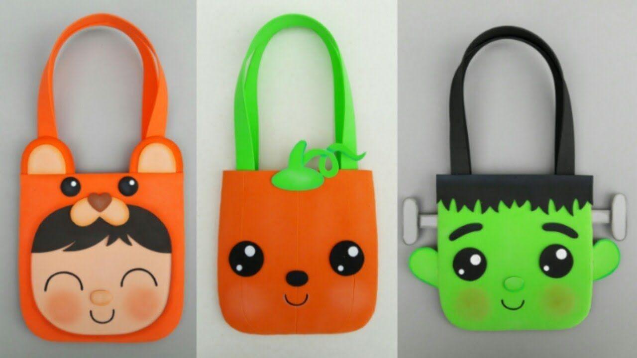 Bolsas Dulceros Para Halloween Diy Manualidades Para Regalar O Vender Reusable Tote Bags Halloween Diy Tote Bag
