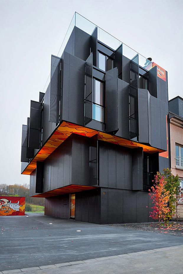 Apartment Building Facade metamorf architects designed this apartment building from