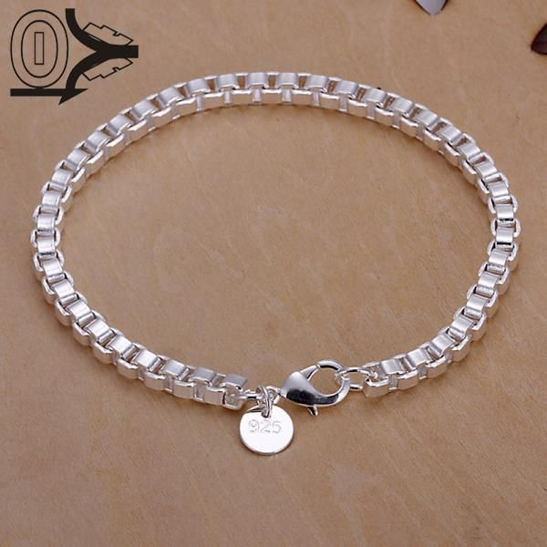 Top Quality Hot Sell Silver Plated Bracelet,Wedding Jewelry Accessories,Fashion Silver Aberdeen Box Bracelets Bangle Gift