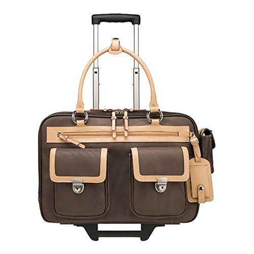 Franklin Covey Business Tote 15 4 Morgan Rolling Laptop Briefcase 33039 Brown