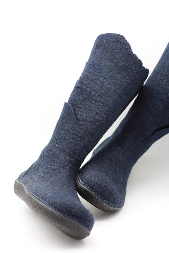 bc967486d9ce7 Felted wool snow boots handmade eco design women boots super light ...