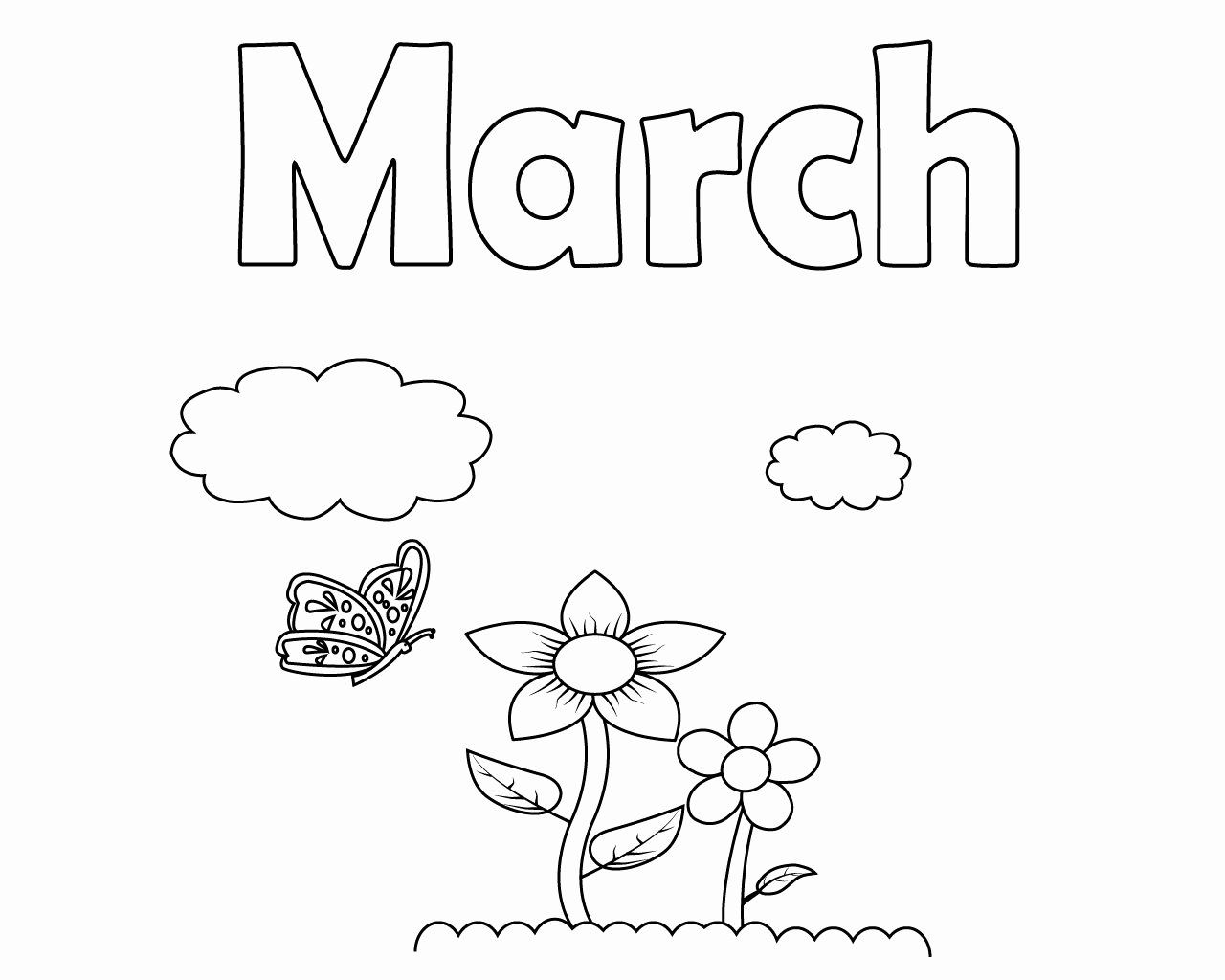 Coloring Books For Toddlers Beautiful Free Printable March Coloring Pages For Kids Toddler Coloring Book Coloring Pages Free Printable Coloring Pages