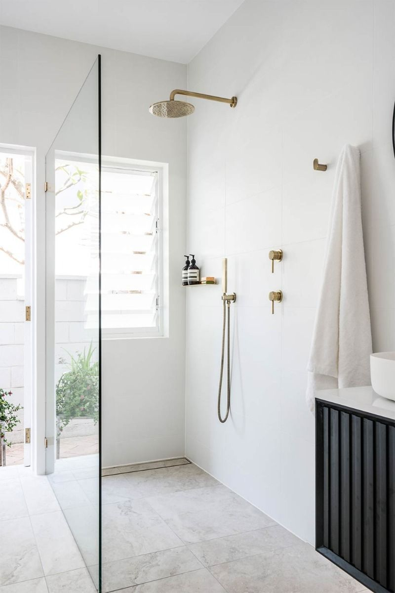 Minimalistic Combined Bathroom Laundry