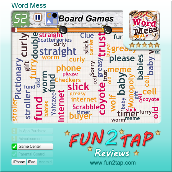 Word Mess - Word Search with a Modern Twist. Full review at: http://fun2tap.com/index.cfm#id2235