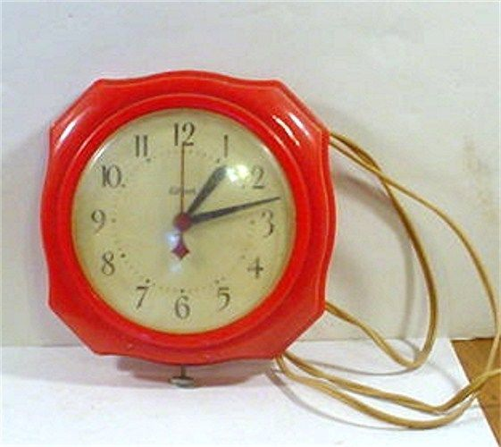 Gilbert Kitchen Clock Clearance Faucets Vintage Wall Hanging Made In Winsted