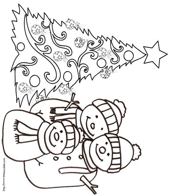 Coloriage du sapin de no l dessin 10 coloriages black - Sapin a colorier ...