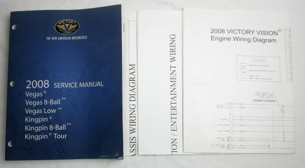 Victory Motorcycle 2008 Service Manual Vegas 8-Ball Low ... on