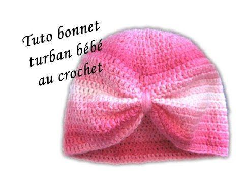 TUTO CROCHET BONNET TURBAN BEBE AU CROCHET FACILE PATTERN TURBAN BABY HAT  CROCHET , YouTube