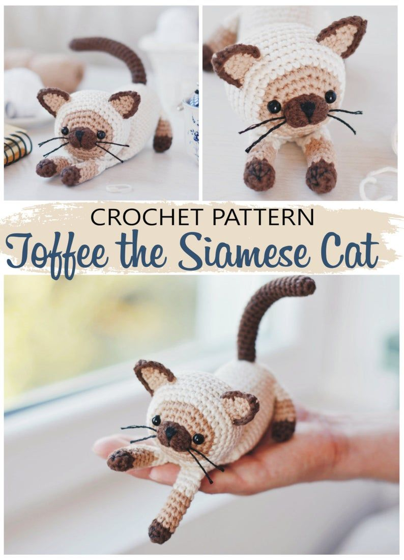 Pattern Bundle Crochet Kitty Cat Amigurumi Kitty Pattern Siamese ... | 1100x794