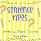 This mini-unit contains the following resources to teach sentence types:~ 4 sentence types posters (Statement, Command, Question, Exclamation)...