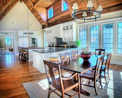 Window Bump Out Log Home Kitchens Vaulted Ceiling Kitchen Traditional Dining Rooms