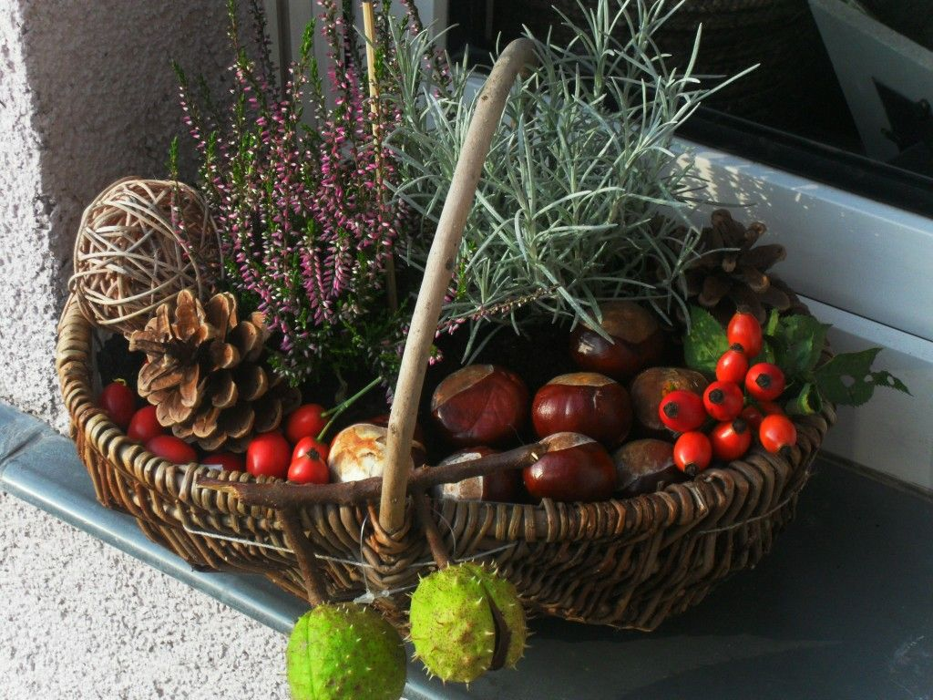 herbstdeko korb decoration pinterest herbstdeko. Black Bedroom Furniture Sets. Home Design Ideas
