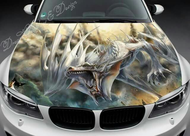 Pin By Michael Osborn On Dragons Pinterest Dragons - Custom vinyl decals for car hoodsowl full color graphics adhesive vinyl sticker fit any car hood