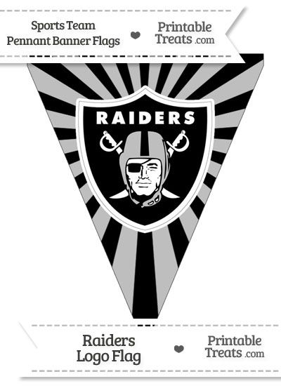 Oakland Raiders Pennant Banner Flag Oakland Raiders Raiders Raiders Football Party