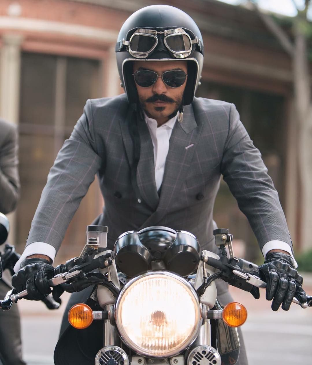 """""""The Distinguished Gentleman's ride went off in SLC today thanks to Juan. Well dressed folks gathered on motor bike machines for a great cause. More photos…"""""""