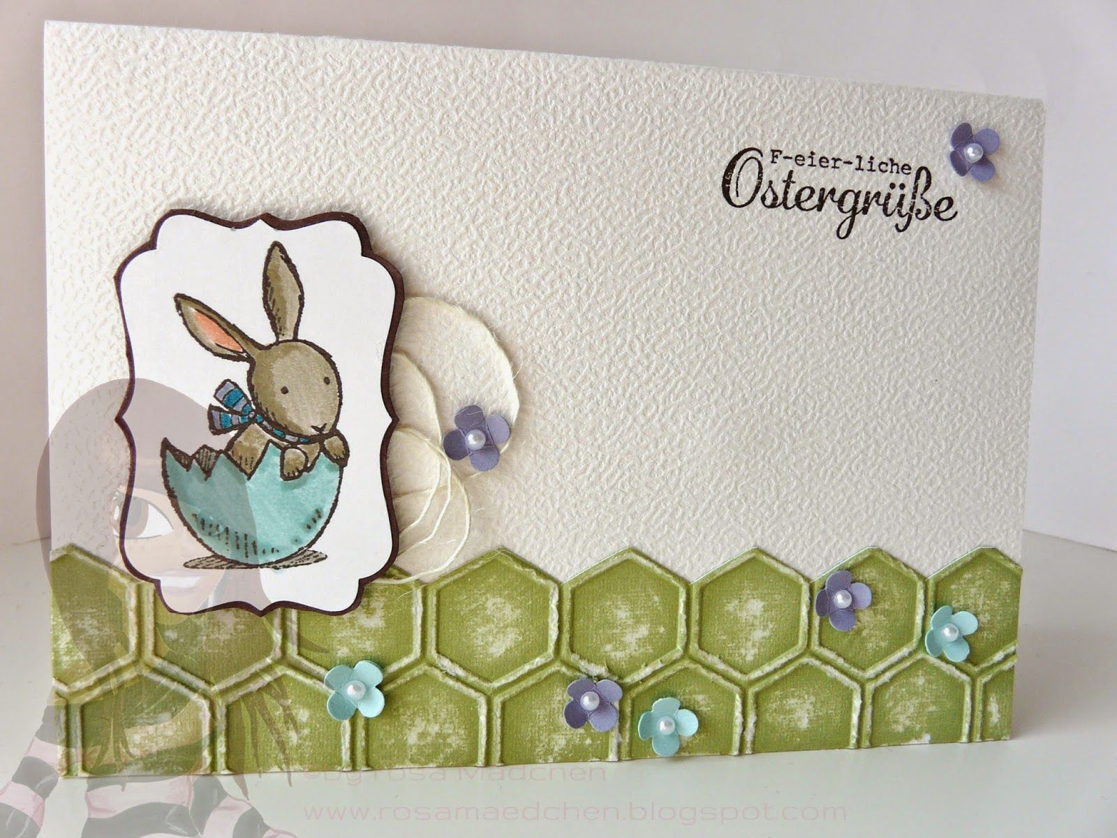 Stampin' Up! - Osterkarte - Hasenparade - Dekoratives Etikett - Itty Bitty - Honigwaben - rosamaedchen.blogspot.de