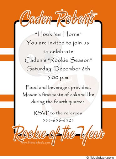 texas longhorn birthday party - Google Search Birthday party - sample trading card