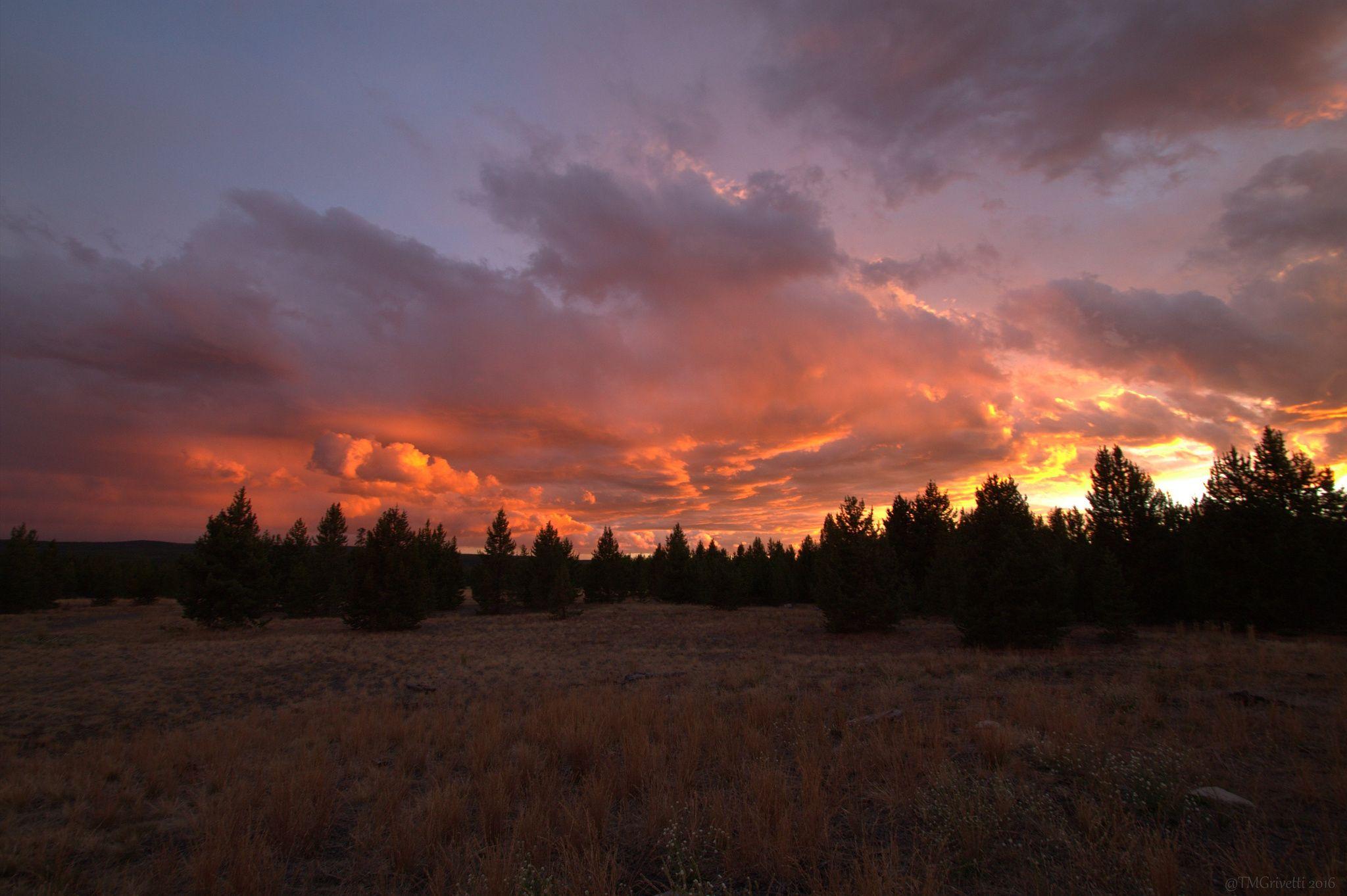 Wild Montana Sunset - West Yellowstone, MT - West Yellowstone, Montana. Sunset…