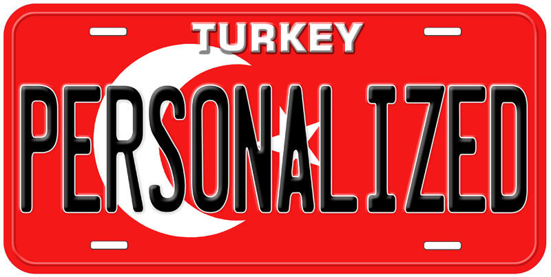 Turkey Flag Any Name Personalized Custom Novelty Car License Plate