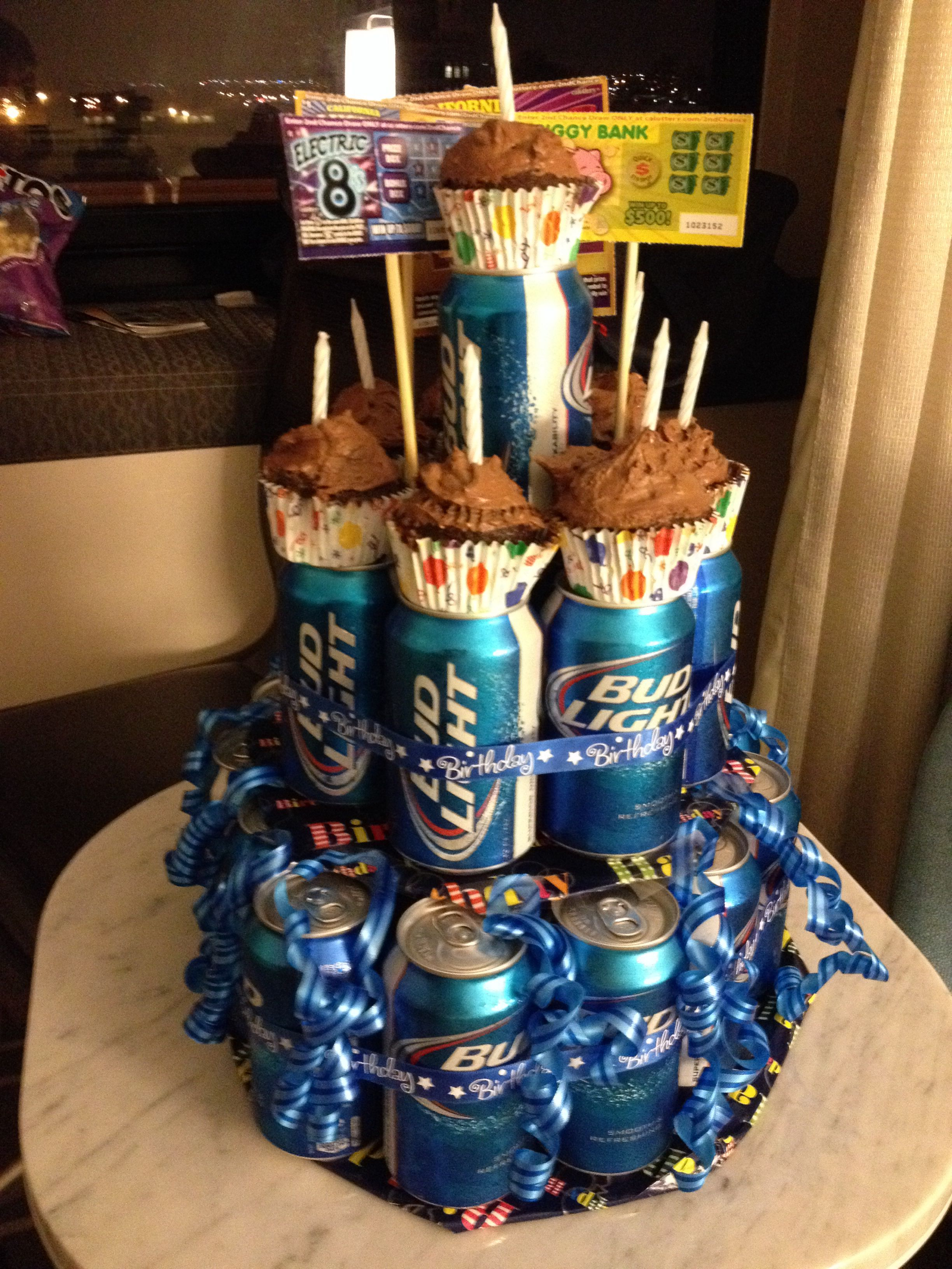 Beer cake I made for my boyfriends 21st birthday   Gift ...