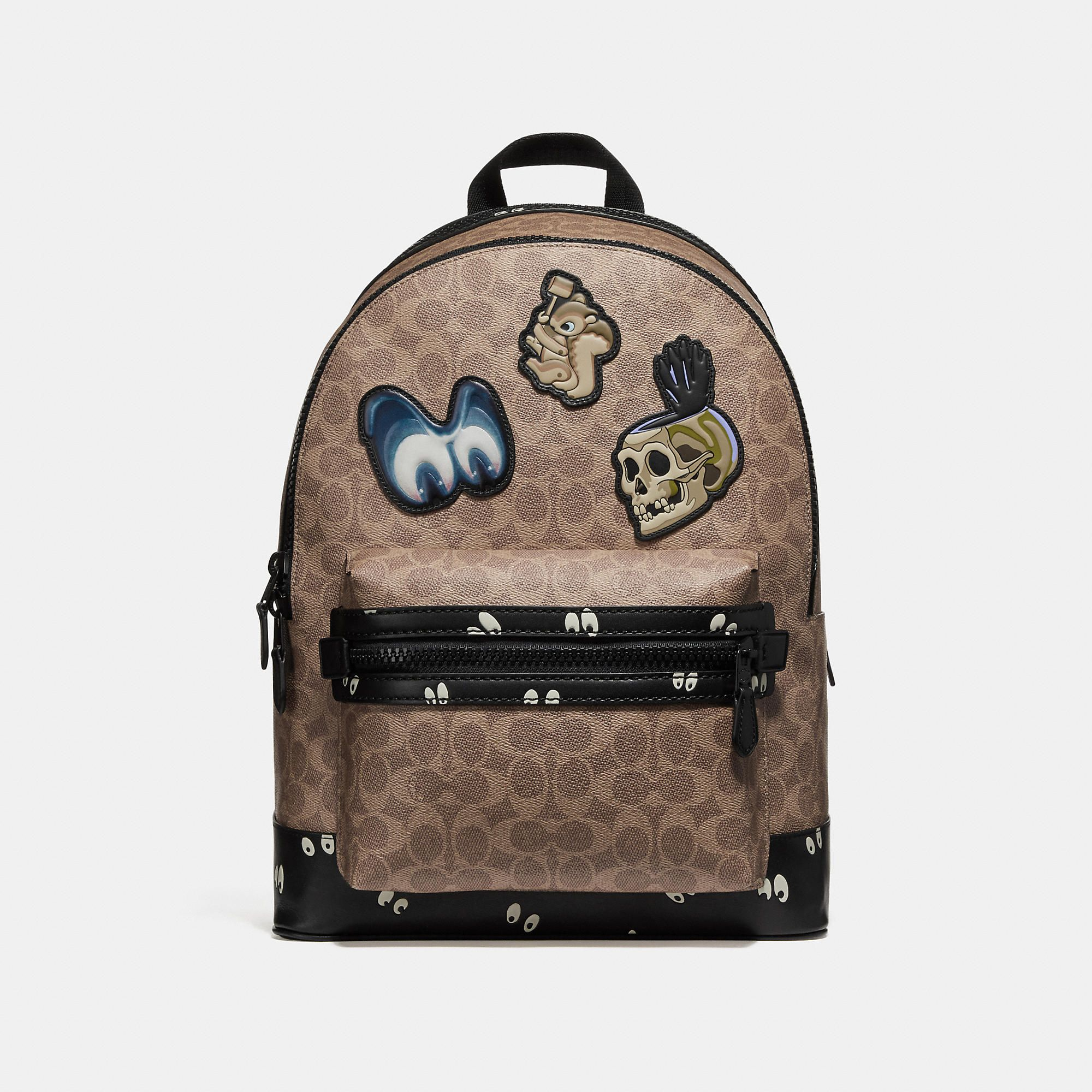 80cd10ff97f7 Men s Disney X COACH Academy Backpack In Signature Patchwork Backpacks  Backpacks