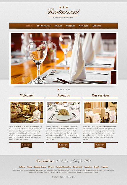 Cafe and Restaurant Responsive Website Template | Restaurant web ...