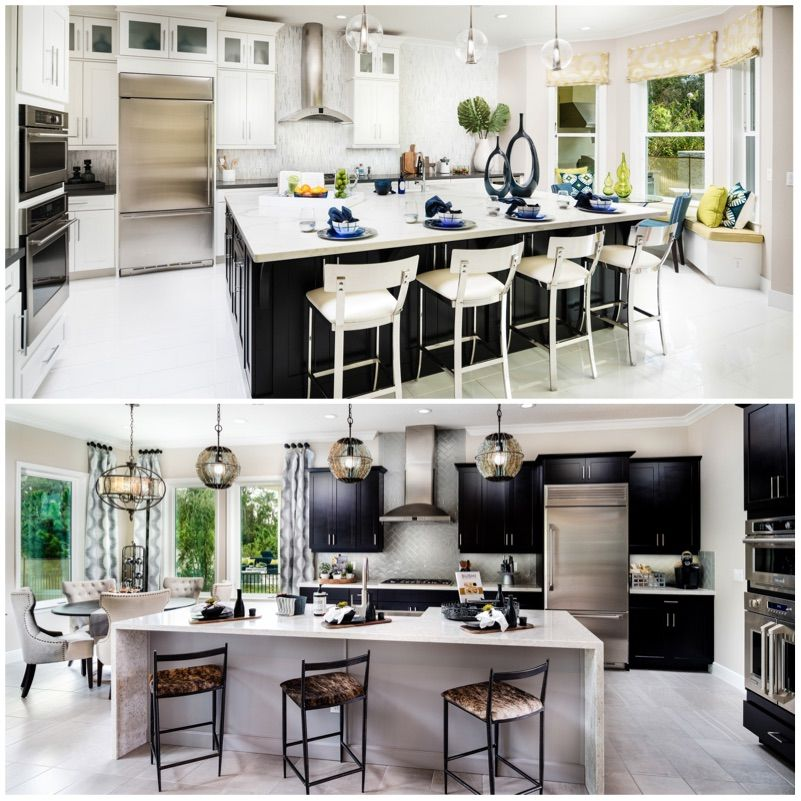 Which Kitchen Would You Want To Cook In This Holiday Top Or Bottom Orlando Florida Realestate Newhome Dreamkitch Dream Kitchen Home Decor New Homes