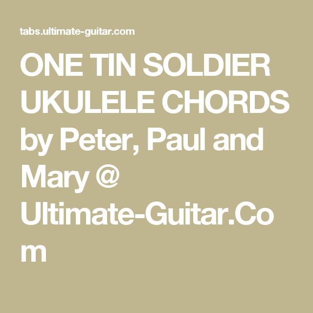 PEACE SONG UKULELE CHORDS by Never Shout Never @ Ultimate-Guitar.Com ...