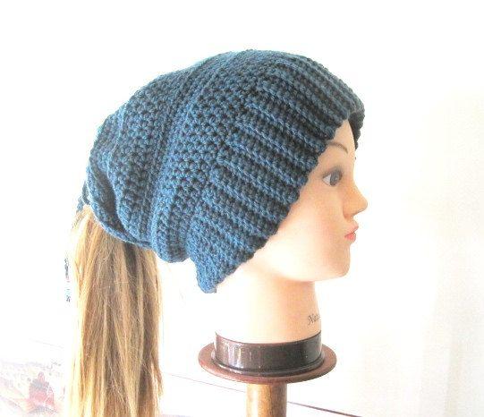 Women s Ponytail Hat PATTERN 40a5cc4a963
