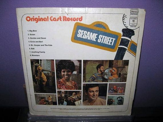 Sesame Street Original Cast LP Record. I had this one! I was a Sesame Street kid all the way...I'm only a couple months older than the show!