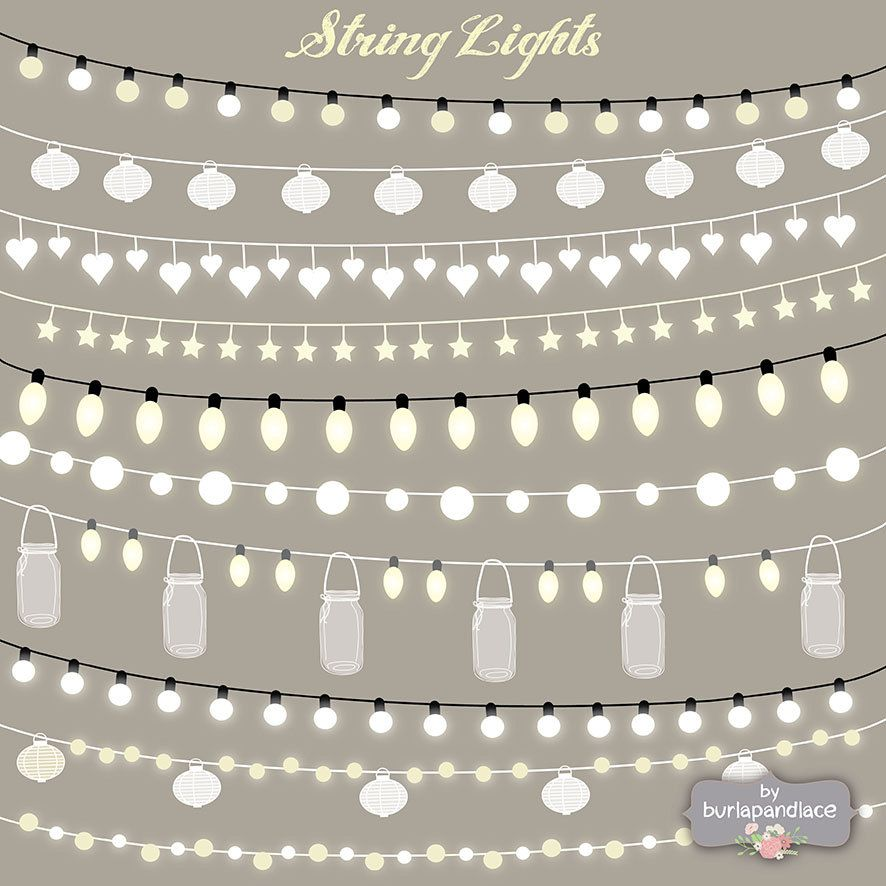 String Lights Clipart Best Vector String Lights Clipart Wedding Invitation Clipart Lights Design Decoration